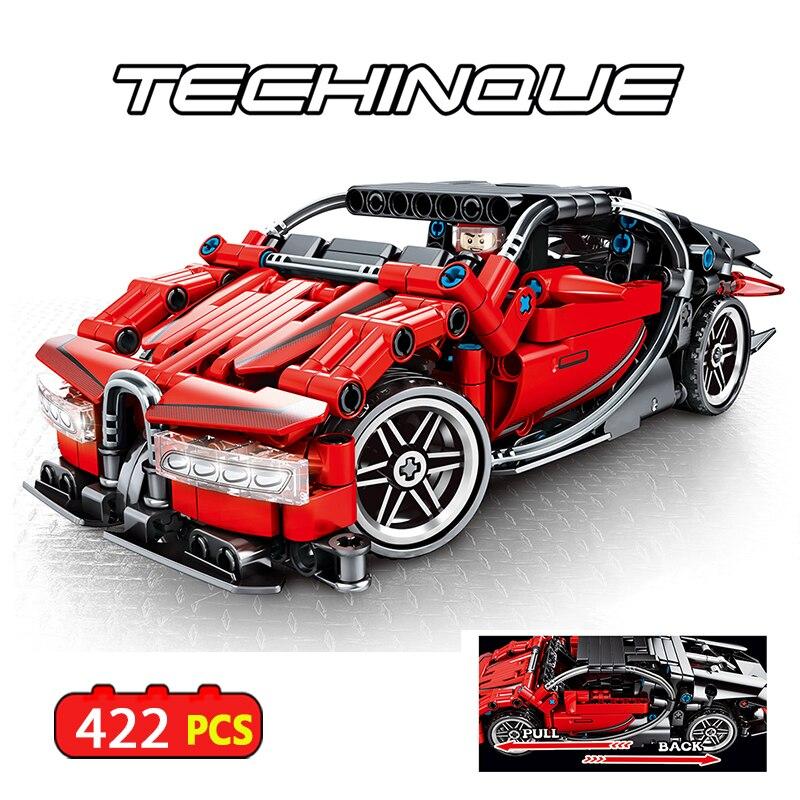 422 pcs Technic RC Tracked Stunt Racer Building Blocks Fit ing car Creator APP Remote Control Car Bricks Toys  For Children