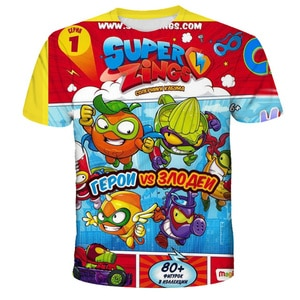 Children's Super Zings Funny Cartoon T-Shirt Children for Girl Boy Girls Kids Kid's TShirts Child Baby Tee Tops Clothing Tees