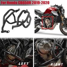 Motorcycle Black Engine Highway Crash Bar Bumper Guard Protector Left Right for 2019-2020 Honda CB650R CB 650R CB 650 R 19 20