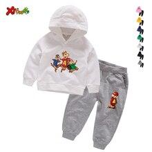 Bébé vêtements à capuche ensembles Chipmunks ensembles enfants 3 4 5 6 ans costume danniversaire garçons survêtements sweat à capuche enfants haut + pantalon ensemble 2 pièces