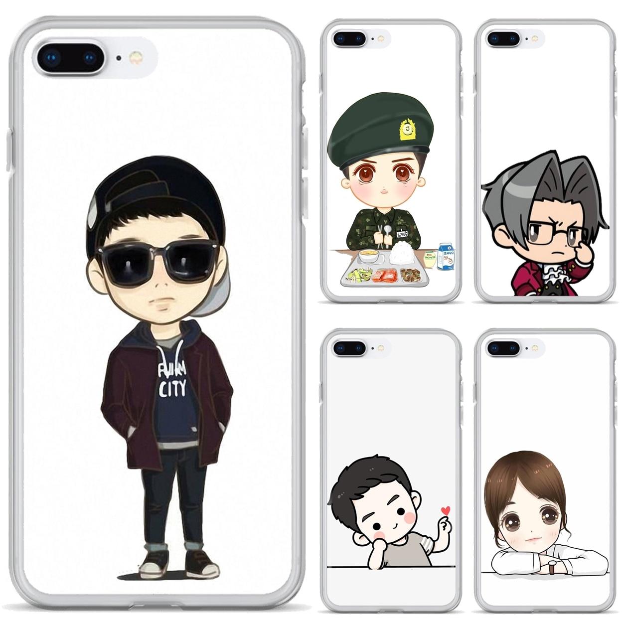 Descendants of the sun Cartoon For Xiaomi Redmi 4A 7A S2 Note 8 3 3S 4 4X 5 Plus 6 7 6A Pro Pocophone F1 Silicone Housing