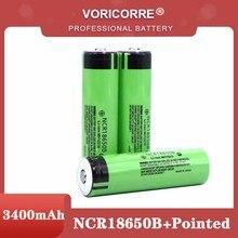 ใหม่18650 3.7 V 3400 Mah แบตเตอรี่ลิเธียม NCR18650B แหลม (PCB) สำหรับไฟฉายแบตเตอรี่