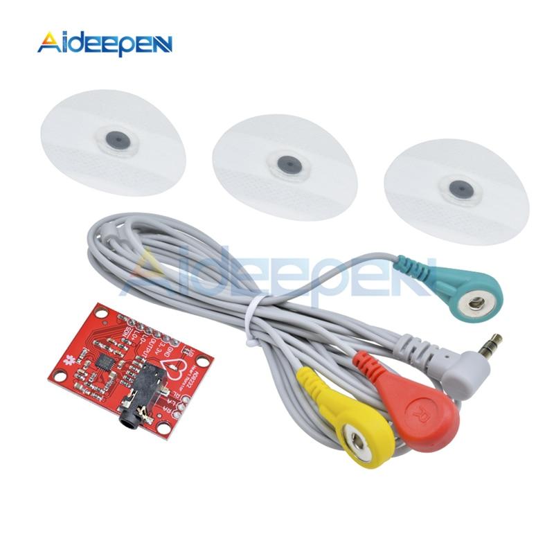 1 Set AD8232 ECG Measurement Pulse Heart ECG Monitoring Sensor Module For Arduino DIY Kit
