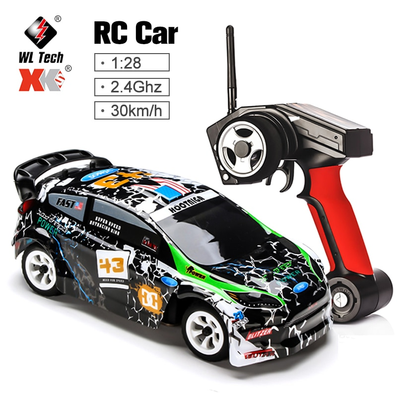 WLtoys Remote Control Four-Wheel Drive Car Charger Electric Toys Mini RC Car 1:28-Ratio High-Speed Off-Road Vehicle