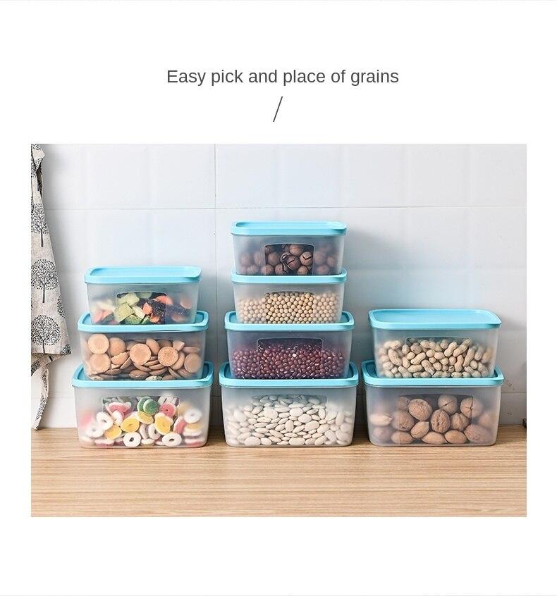 Контейнеры для хранения пищевых продуктов, Кухонный Контейнер для хранения, используемый для хранения на кухне и холодильнике, возможно ра...