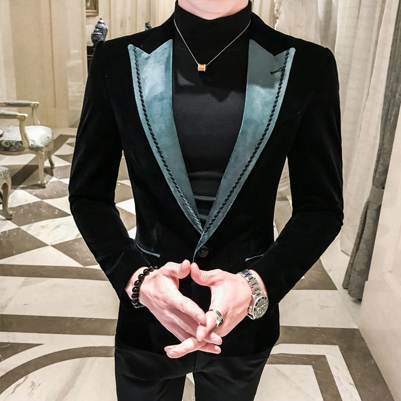 New Blazer Masculino Slim Fit Man Leisure Time Tide Blazer Hombre Business Affairs Suit Small Man's