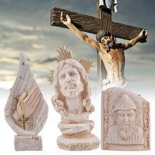 Ameublement chrétien chrétien chrétien   Croix, chrétiens bibliques, cadeaux dicônes, Statue décoration de jésus le rédempteur, sculpture stat