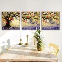 set of 3 dream tree paint by number kit gift for hertree decor fashion treecolorful tree tree art dream tree diy paintingeasy