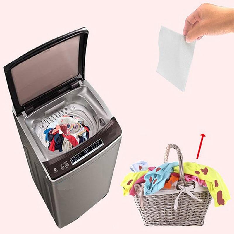 Paño de teñido de la hoja de la absorción del Color de 120 Uds para el uso de la lavadora a prueba de teñido