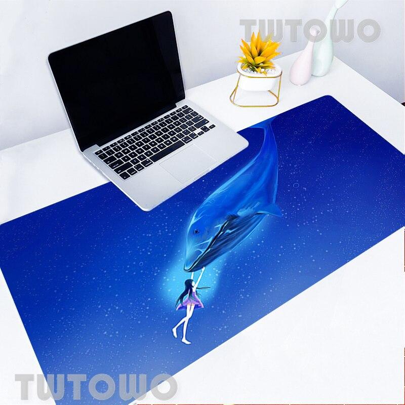 Alfombrilla de ratón grande para Diseño de ballena, miniteclado de escritorio para...