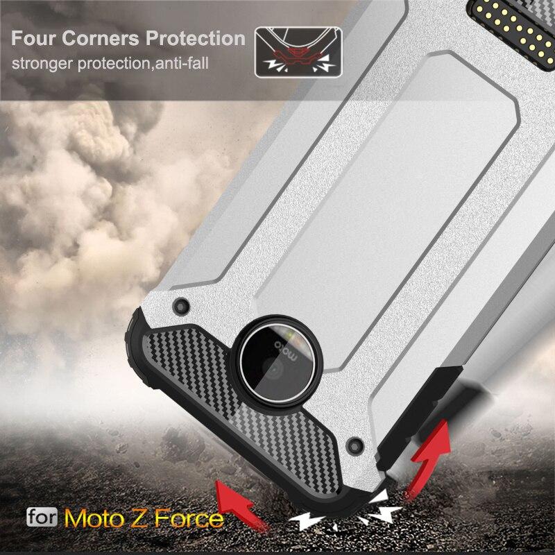 Funda blindada a prueba de golpes para Moto G5 G5S G6 G7 Pus G6 Play E5 E3 M G4 G3 One Power Z Force Anti caída cubierta Capa parachoques