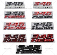 3D Metalen 345 Hemi Emblem Badge Auto Stickers Auto Styling Voor Jeep Cherokee Kompas Wrangler Dodge Charger Honda Toyota Audi