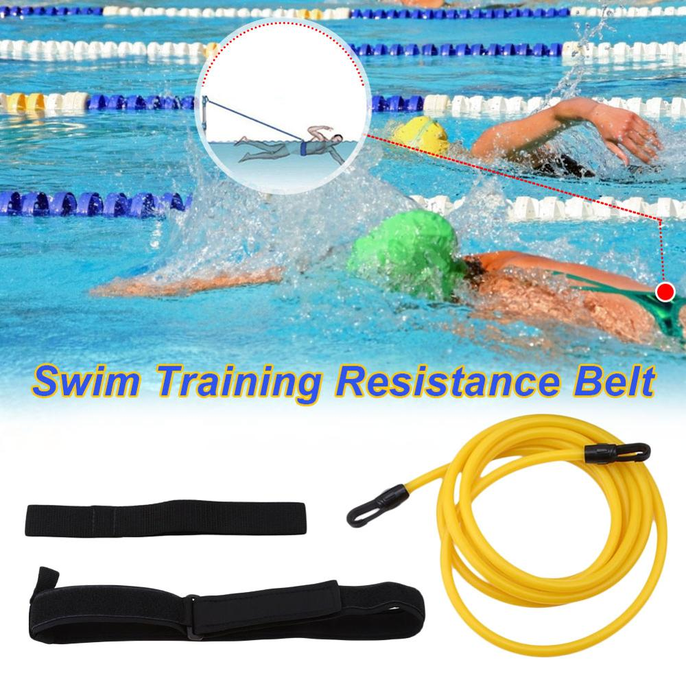 Correa elástica de entrenamiento de natación ajustable de 4m, cuerda de seguridad para ejercicios de natación, tubos de látex, herramientas de groot zwembad