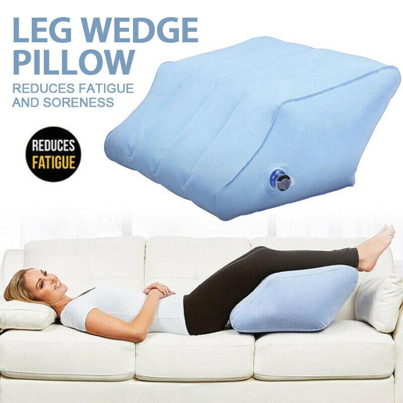 Almohada inflable con rampa para las piernas, cojín portátil para las piernas, cojín inflable para dormir para niños, almohada de descanso para los pies de viaje