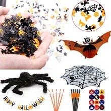 15g upiorny halloween konfetti dyniowy pająk Web Witch Bat rzut konfetti posypać świąteczna do domu zaopatrzenie firm dekoracja stołu
