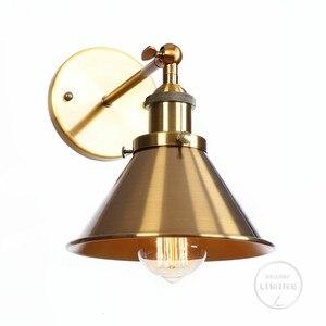 Nordic Led Iron Brass Vintage Wall Lamp Mirror Bedroom Bathroom Light For Cafe Room Edison Wall Sconce Loft Industrial  Wandlamp