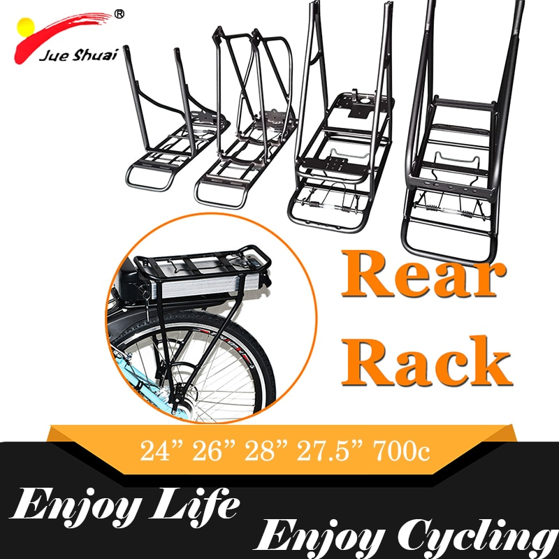 20 pulgadas 24 pulgadas 26 pulgadas 700C 28 pulgadas bicicleta trasera Rack envío gratis soporte de batería portaequipajes para MTB accesorios de bicicleta para adultos