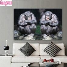 5d peinture diamant singe Couple   Décor de maison, Chimpanzee peinture diamant, perceuse complète, carré diamant rond broderie diamant, point de croix mosaïque