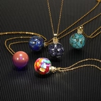 2021 new nebula galaxy pendant necklace universe planet jewelry glass art picture handmade romantic statement necklaces gift