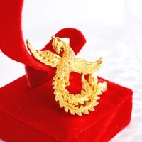 simple gold 14k pendant for womens party birhtday gift 3d phoenix necklace pendant jewelry temperament wedding anniversary gift