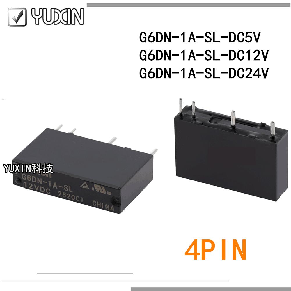 20 шт./лот 100% оригинальное и новое реле Φ G6DN 1A SL 5V 12V 24V 5A 4PIN