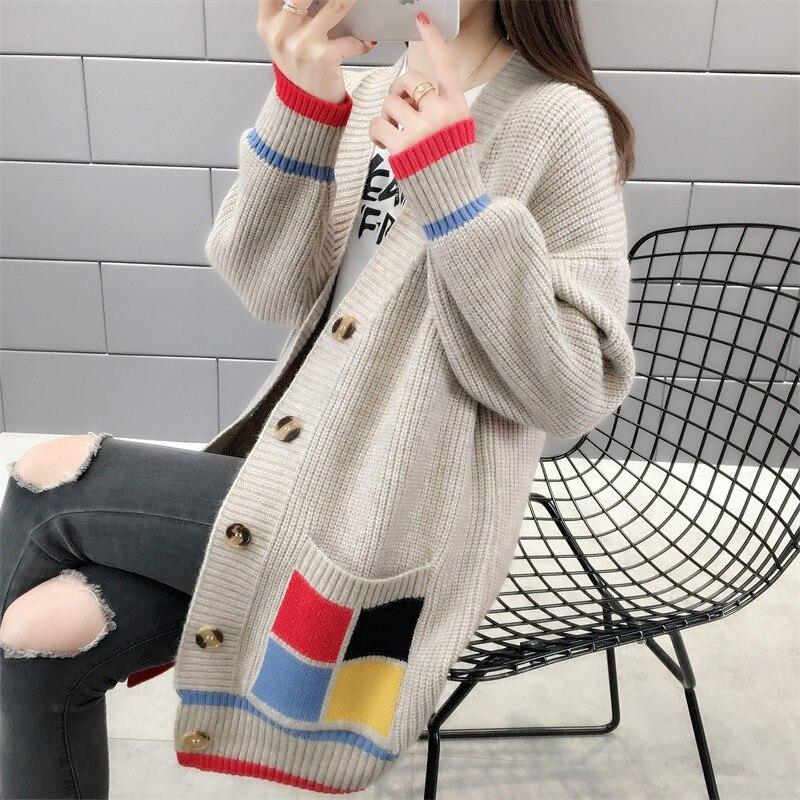 2019 New Fashion Winter Cardigans Women Fashion lazy Sweater