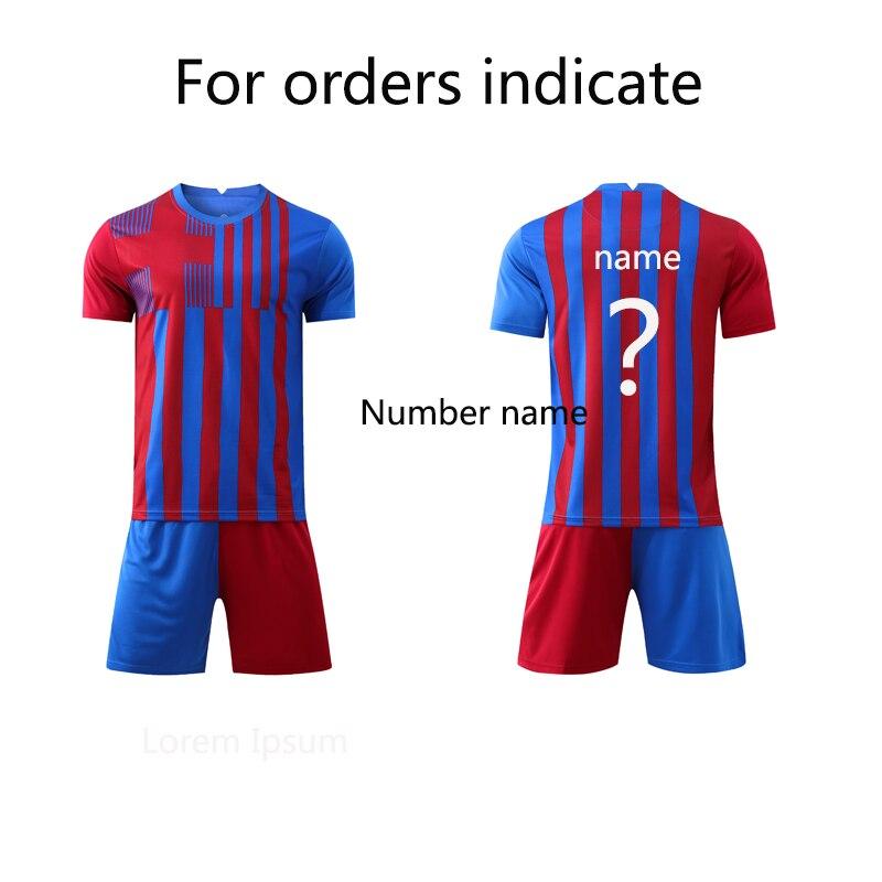 Летние красные и синие комбинированные футболки для взрослых и детей, футбольное оборудование, футбольные майки, спортивный костюм для фут...