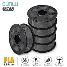 Filament SUNLU 1.75 PLA 5 rouleaux/ensemble PLA PLUS Filament dimprimante 3D 1KG avec bobine bonne ténacité recharges de Filament de stylo dimpression 3D