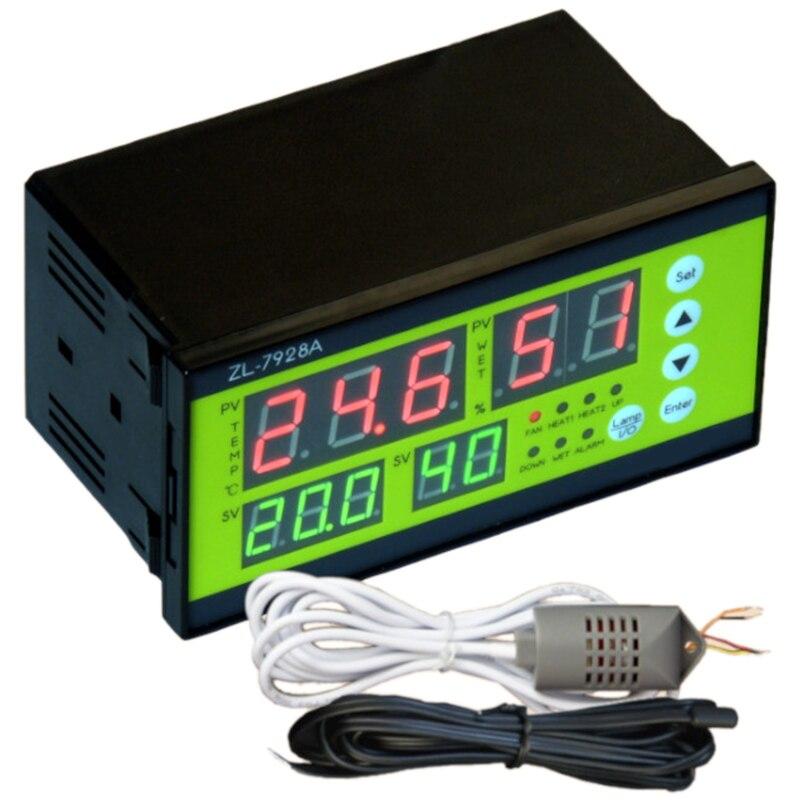 ZL-7928A, 100/220Vac, respaldo de batería de 12 V, salidas secas, incubadora automática multifunción, controlador de incubadora