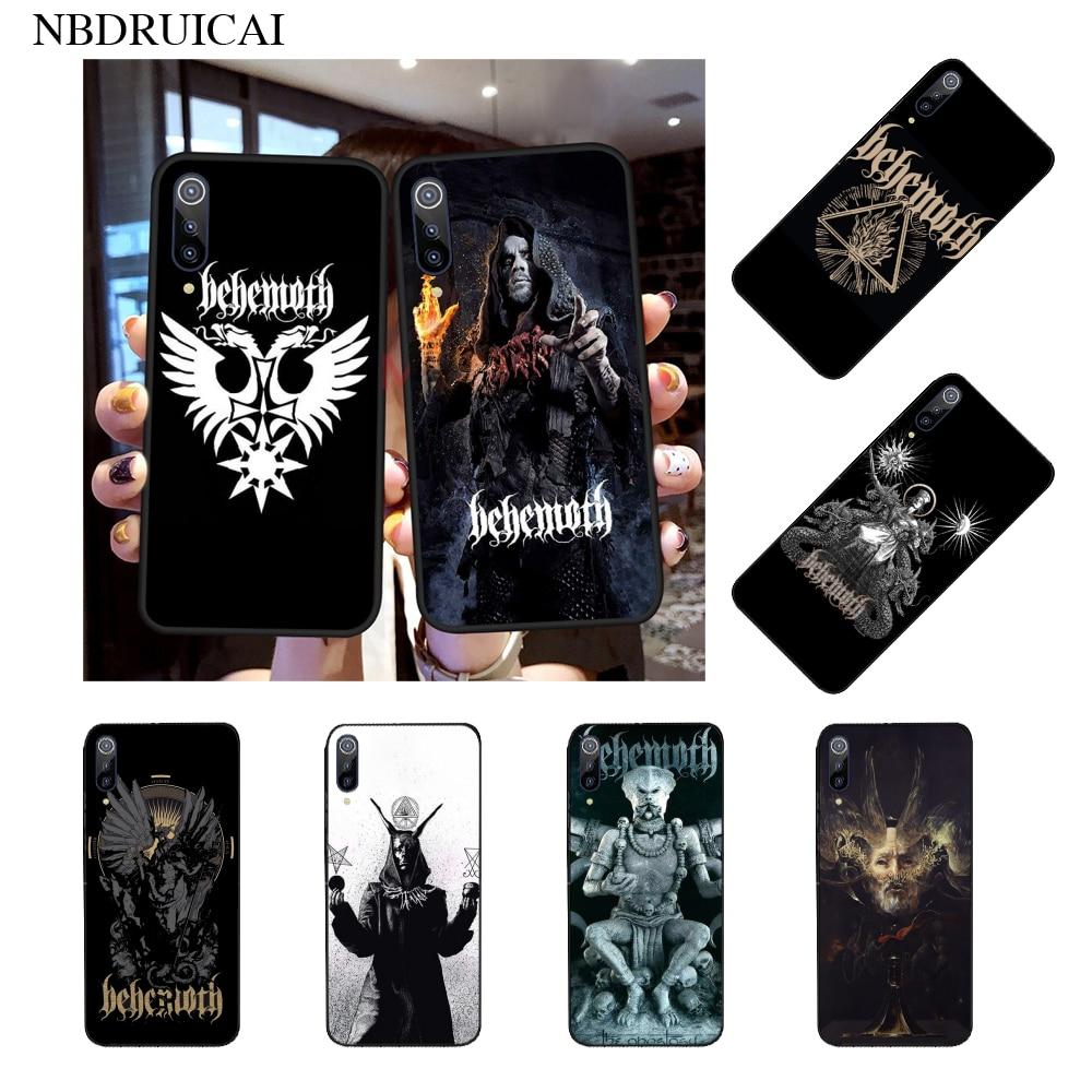 NBDRUICAI Behemoth Rock Band Newly Arrived Black Cell Phone Case for Xiaomi Mi9 9SE 8SE Pocophone F1 Mi8 Lite