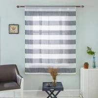 modern roman window curtain gauze blue gray two colour choise gauze curtain living dining room home decoration
