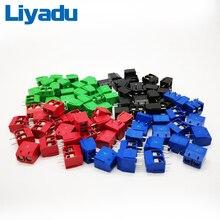 100 TEILE/LOS KF301-2P Spleißen, schraube typ PCB abstand 5,0 stecker terminals, terminal Blau/grün KF301 Rot, blau, grün, schwarz