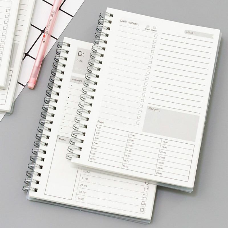 Cuaderno con tapa transparente/Kraft de 188x130mm, planificador semanal, diario, cuaderno A5