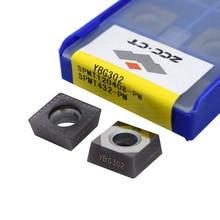 10pcs ZCC-CT milling cutter SPMT120408-PM YBG302 cnc mills carbide tool SPMT120408 for steel and stainless steel SPMT