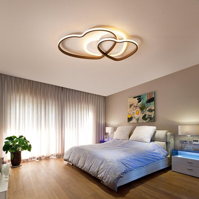 مصباح سقف led أكريليك على شكل قلب لغرفة النوم ، مصباح سقف حديث ودافئ بسيط لغرفة الأطفال والمطعم