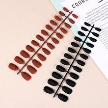 24 pièces couleur Pure douce tête ronde couverture complète mat faux ongles ovale givré faux ongles artificiels Super lumineux paillettes Nail Art