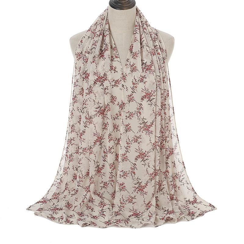 N21  60pc High quality flower printed chiffon hijab scarf lady scarf/scarves long wrap headband  maxi  scarf  180*70cm 50pcs/lot