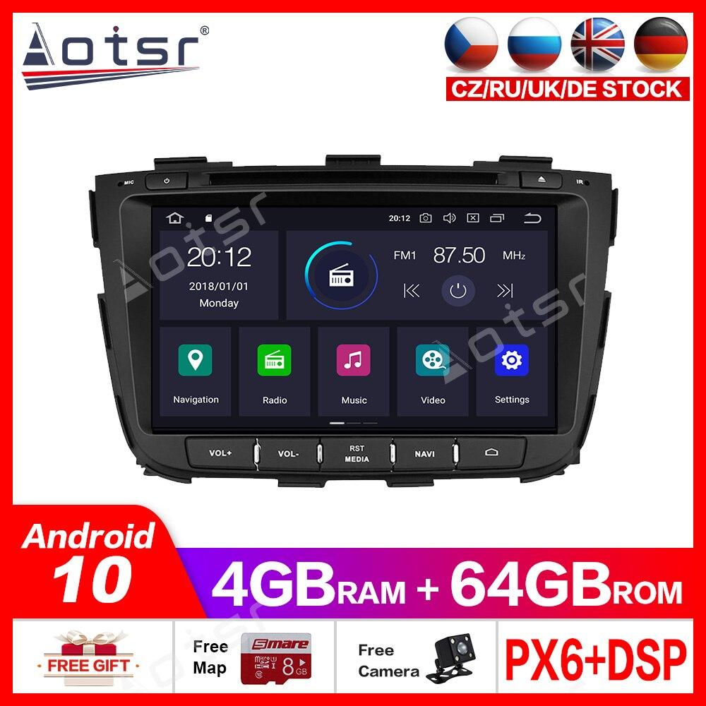 Android10.0 4g + 64gb reprodutor de gps dos multimédios do carro para a navegação estereofônica do rádio de dvd gps dos multimédios do reprodutor 2013 -2015 do carro de kia sorento