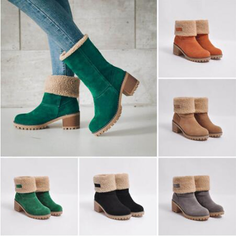 2019zapatos para mujer Botas de nieve Botas de Invierno para mujer Botas cálidas Botas de tobillo para mujeres Botas cortas antideslizantes Botas C011