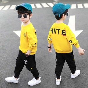 Hot!Spring autumn boy girl clothes sets cotton kids Hoodie Haren pants 2 piece toddler sports clothes Children clothing