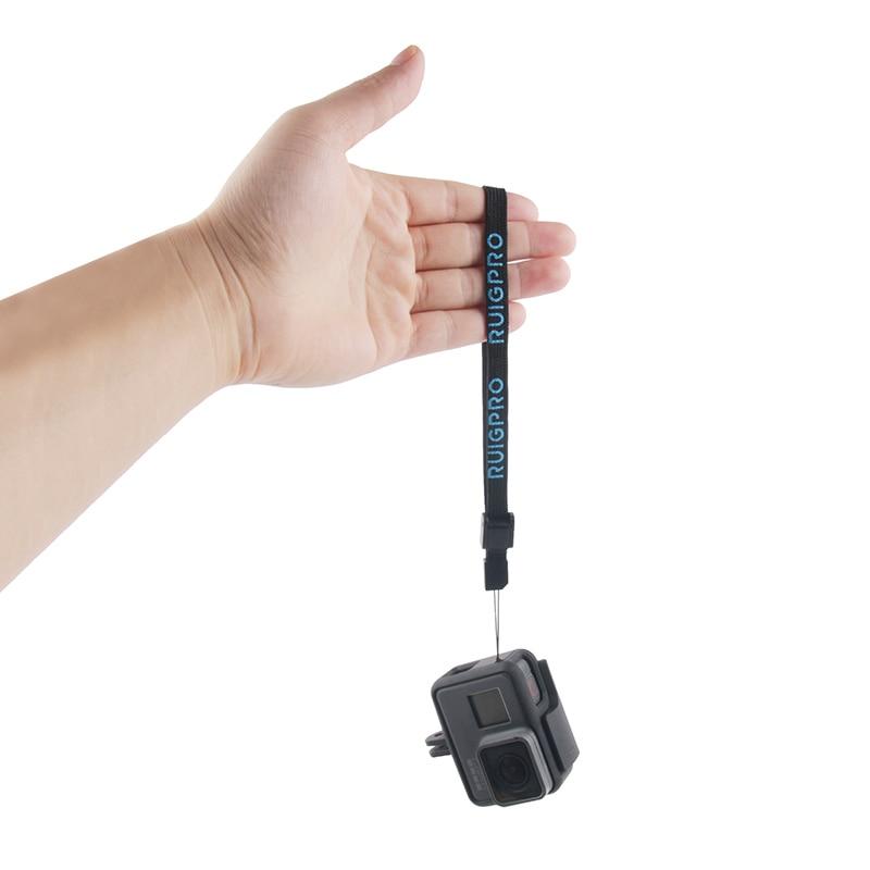 Correa de mano Wris, correa de cuerda de seguridad para cámara, cordón antipérdida para GoPro Hero 8 7 6 5 4 3 + SJCAM SJ4000 SJ5000 SJ6 SJ7 YI