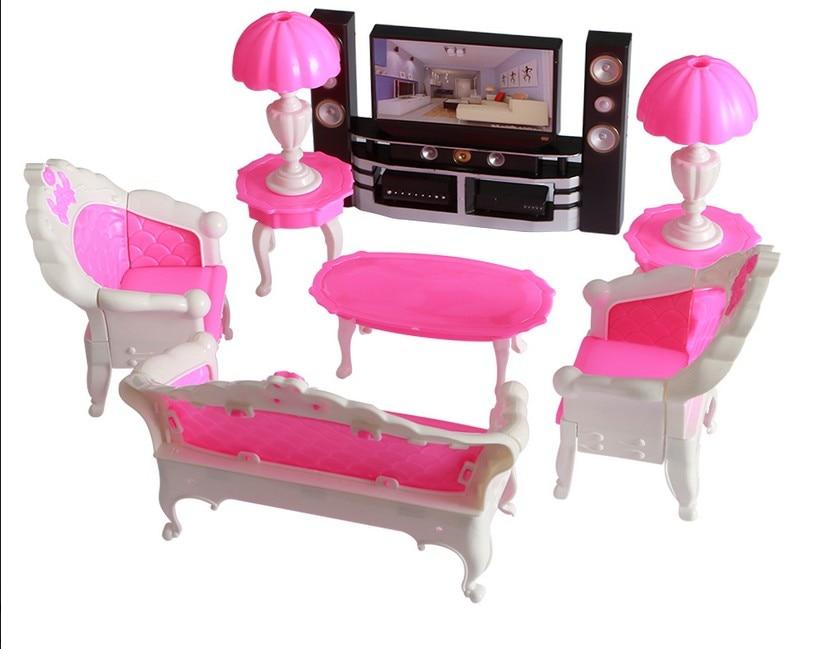 Игрушки Beilinda, пластиковые игрушки, предметы для дома, наборы диванов, парные диваны, одиночные диваны, лампы, ТВ-набор в полиэтиленовом пакет...