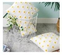 daisy cotton waist pillow sofa cushion pillows cover pillowcase for living room bedroom folk style embroidery pillow decorative