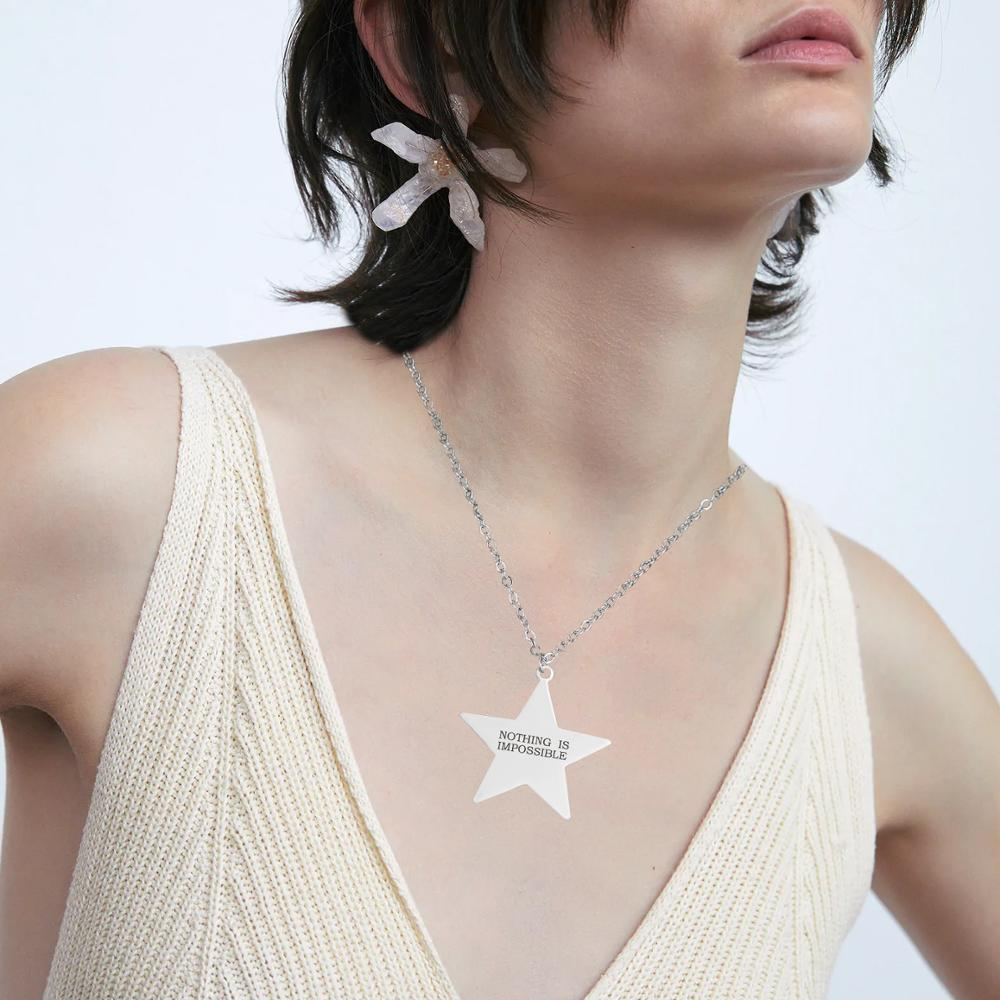 Collar de la amistad de regalo grabado, estrella, no es posible, para...