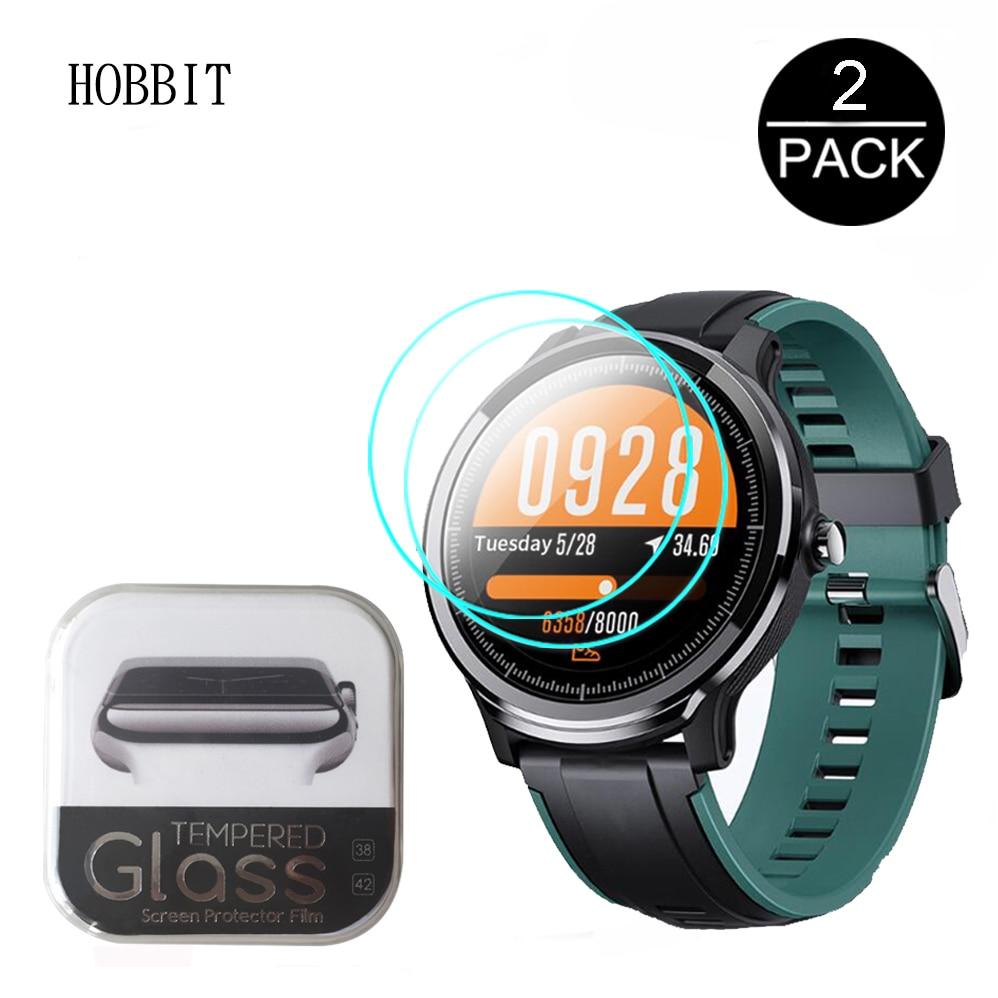 2 Pcs 2.5D 9H Gehard Glas Voor Kospet Probe SN80 Gps Smartwatch Glas Hd Clear Explosieveilige Kras slip Guard Film