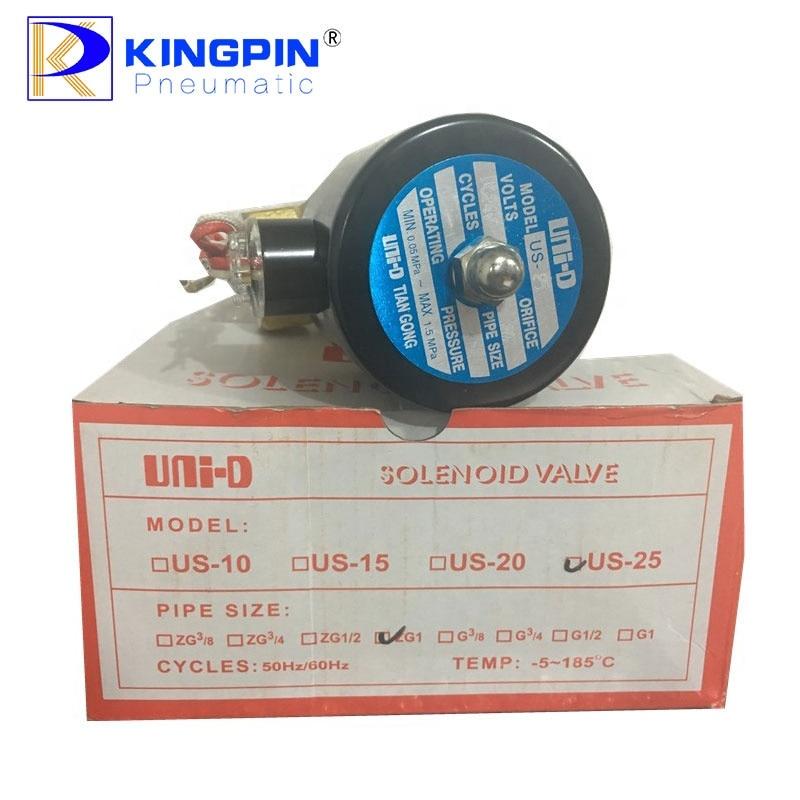 24V AC220V Normal Closed Valves US-25 Direct-acting solenoid valve Uni-D Water valve enlarge
