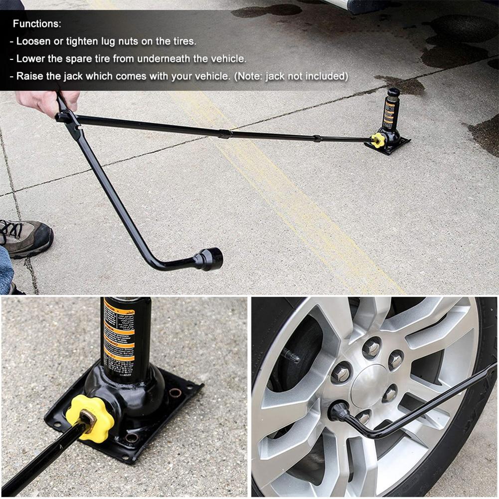 4 unids/set orejeta de neumático de repuesto de coche llave Jack herramientas Personal para GMC Sierra Chevy Silverado 1500 2500 3500