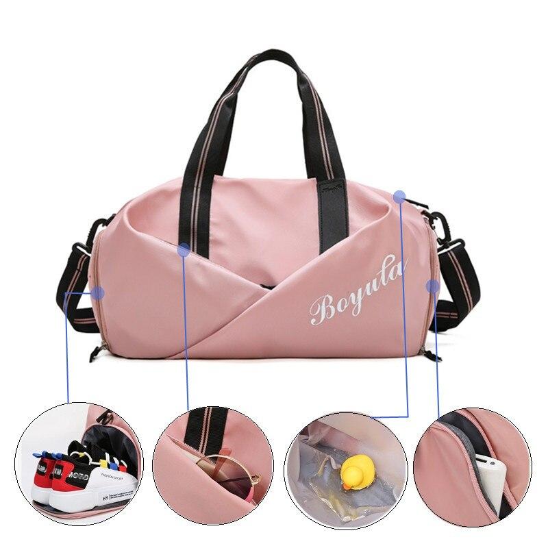 Women Gym Bag Sports Fitness Handbag Training Bags For Shoes Travel Dry And Wet Yoga Mat Sac De Spor