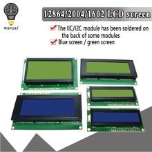 LCD1602 LCD 1602 2004 12864 module bleu vert écran 16x2 20X4 caractère LCD Module daffichage HD44780 contrôleur bleu noir lumière