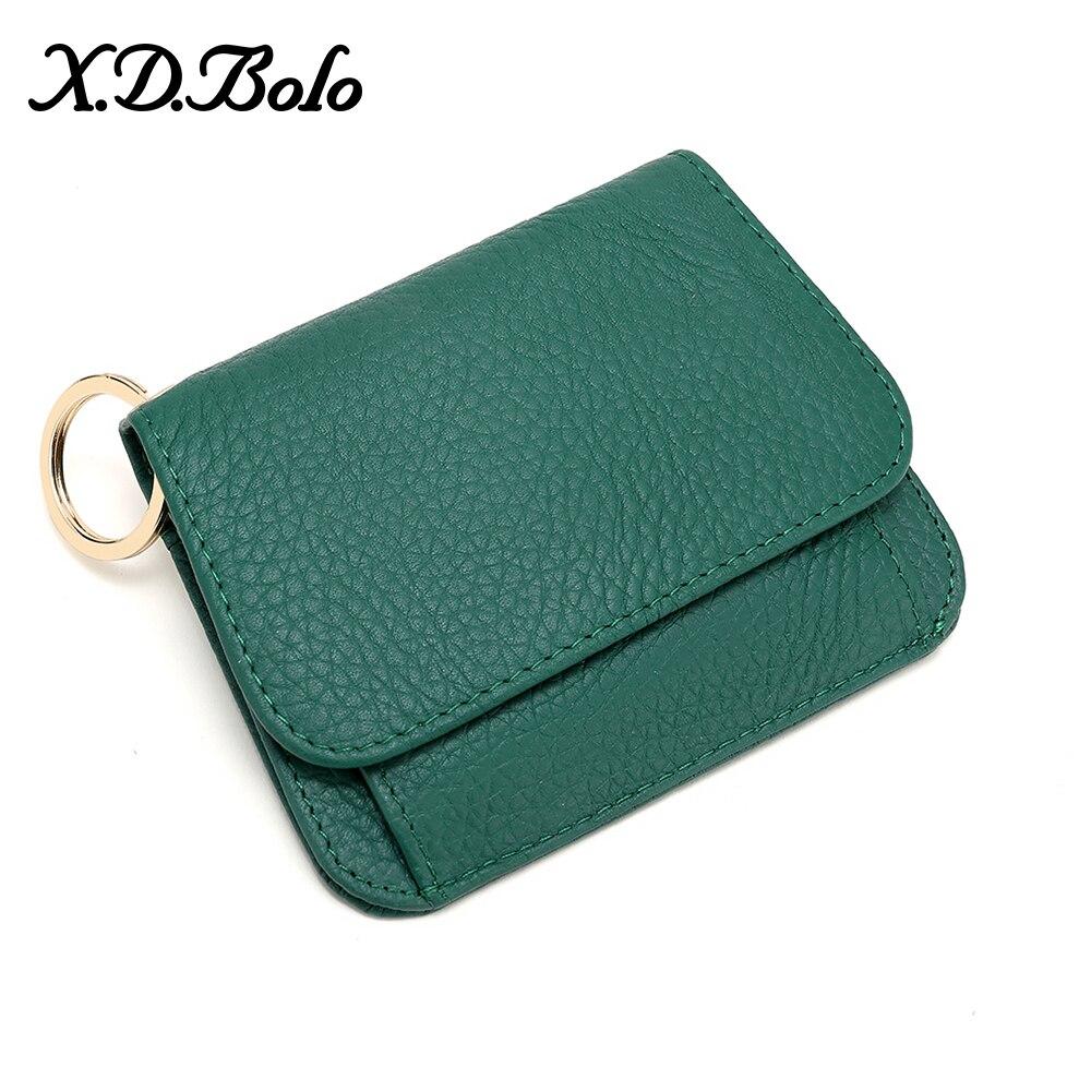 Genuine Leather Women Wallet Fashion Cute Womens Small Zipper Coin Female Short Purse Card
